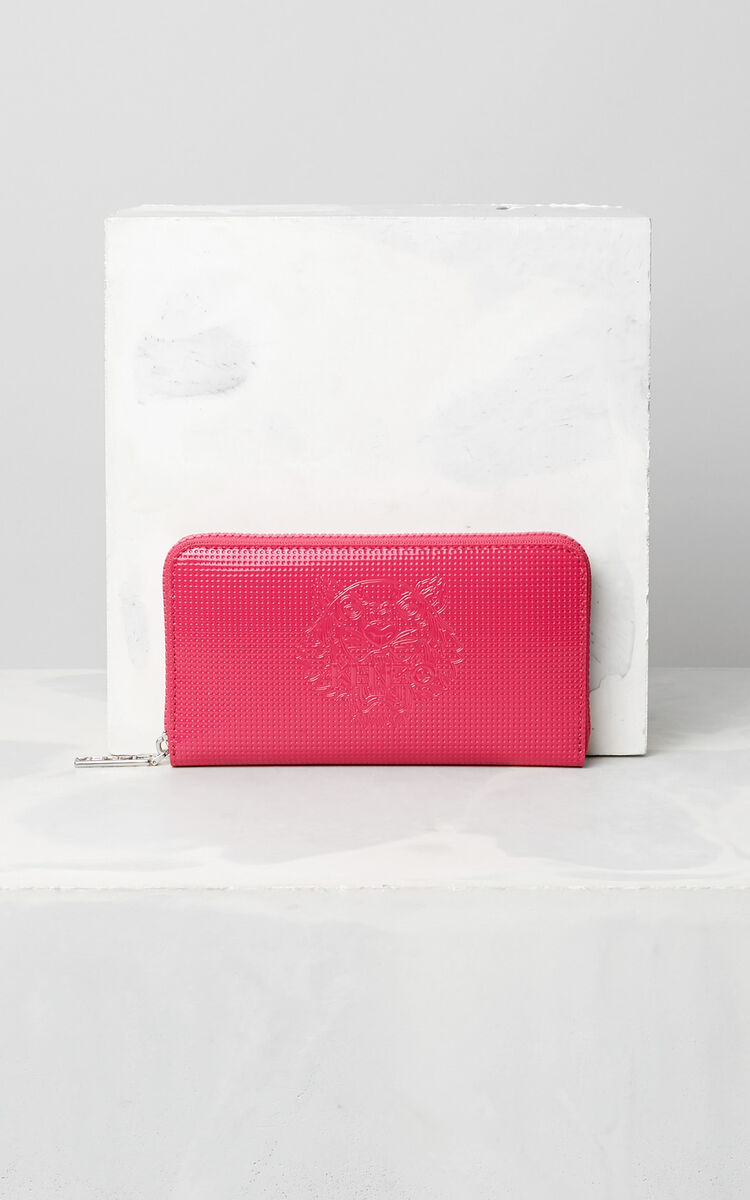 DEEP FUSCHIA Tiger continental wallet for women KENZO