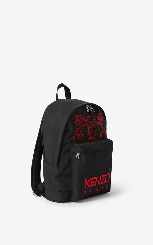 BLACK 'Chinese New Year Capsule' Kampus Tiger canvas rucksack for unisex KENZO