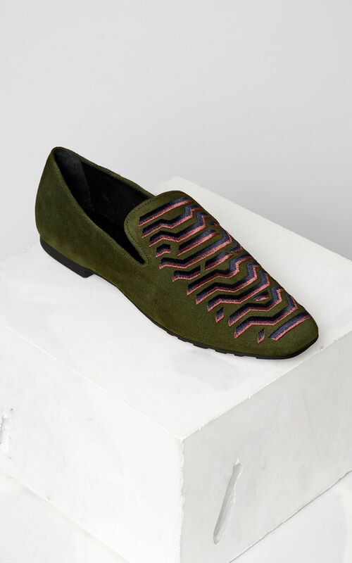 DARK KHAKI Custer' Loafers for women KENZO