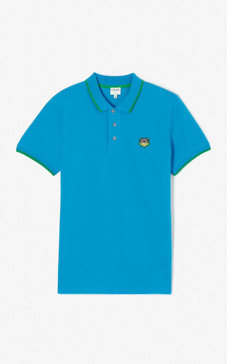 TURQUOISE Adjusted Tiger Polo for men KENZO