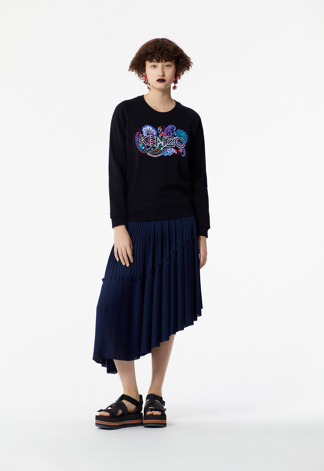 BLACK Paisley KENZO Sweatshirt for women
