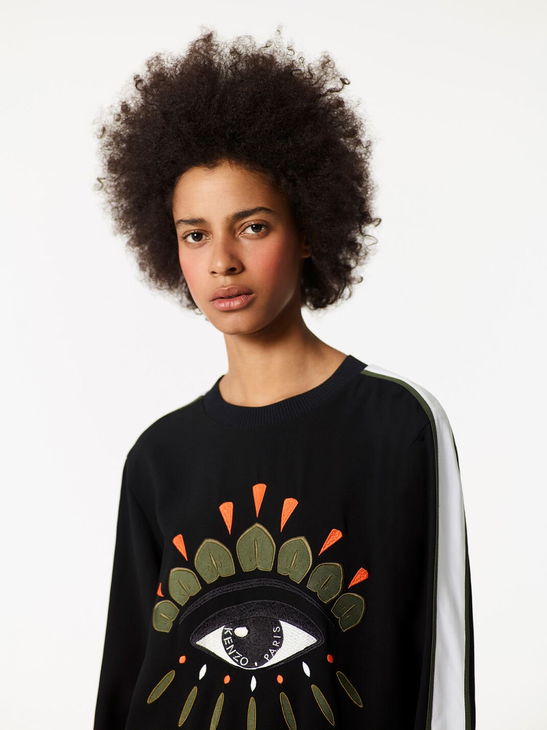 BLACK Crepe Eye Top for women KENZO