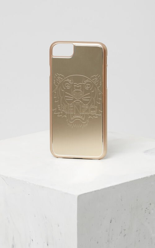Tiger iPhone 7 case, GOLD, KENZO
