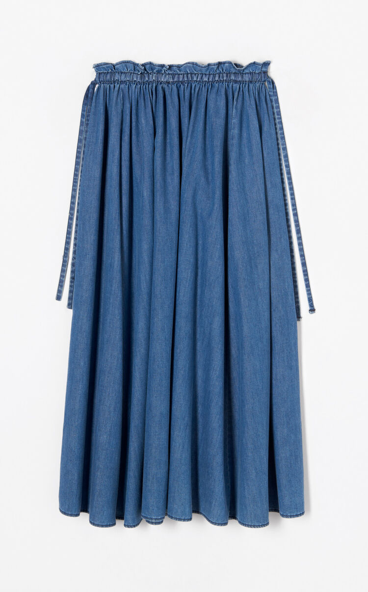 NAVY BLUE Hyper KENZO' Long Denim Skirt for women