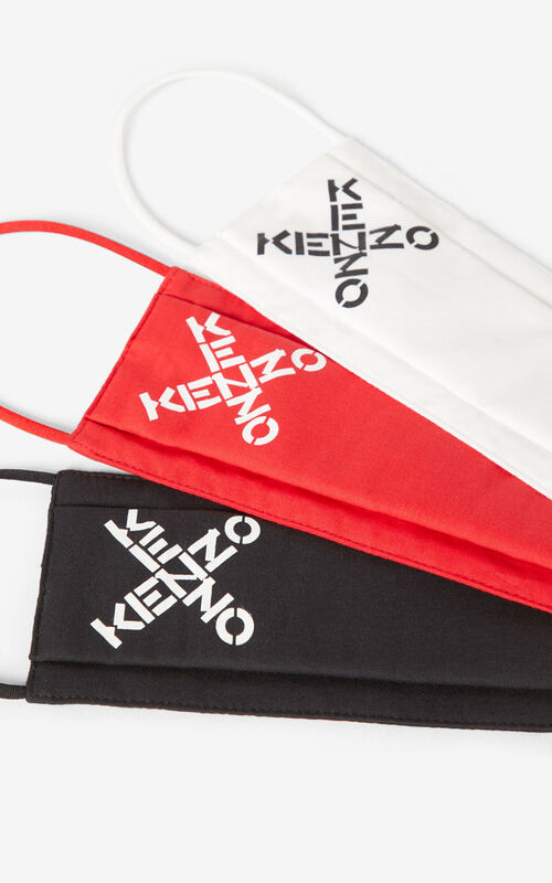 MULTICOLOR KENZO Sport pack of 3 face protection masks tricolor for unisex
