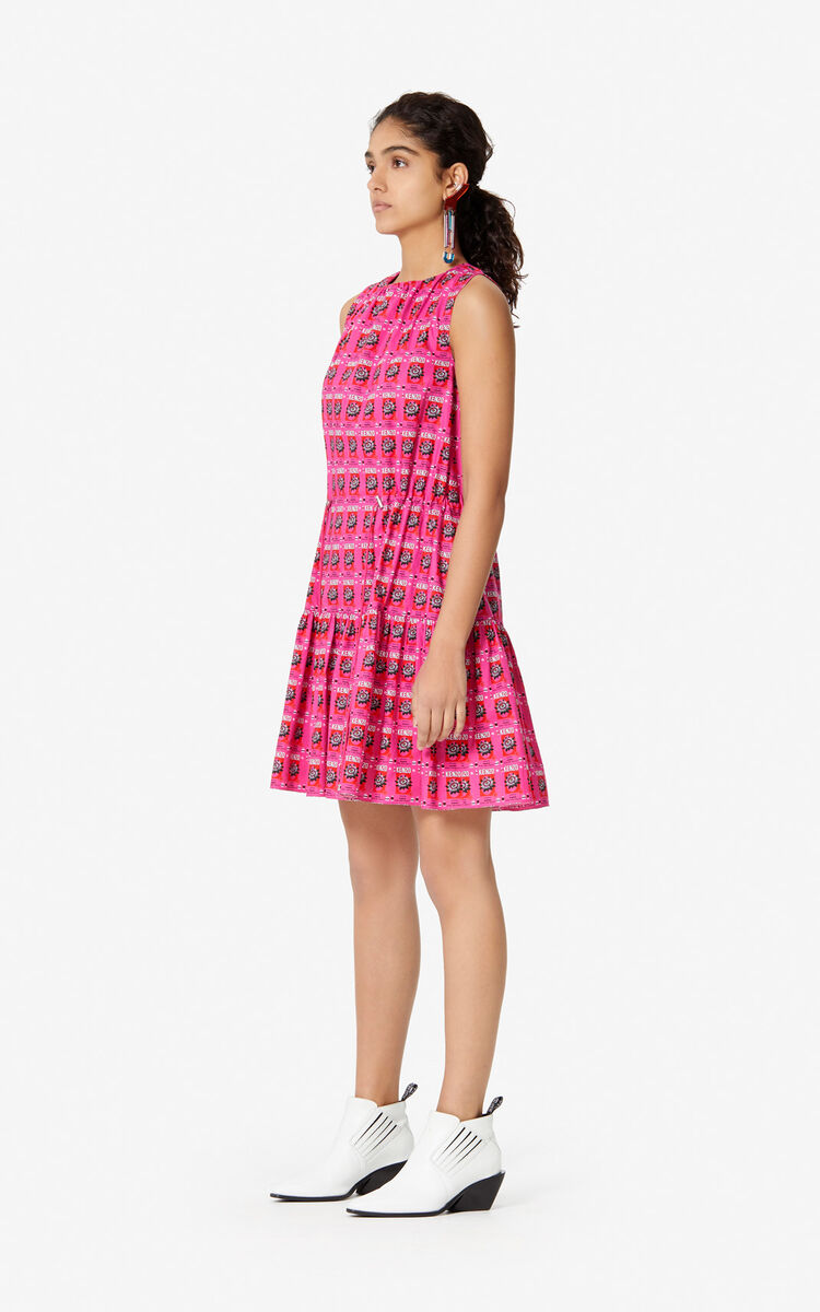 DEEP FUSCHIA 'Rice Bags' dress for women KENZO