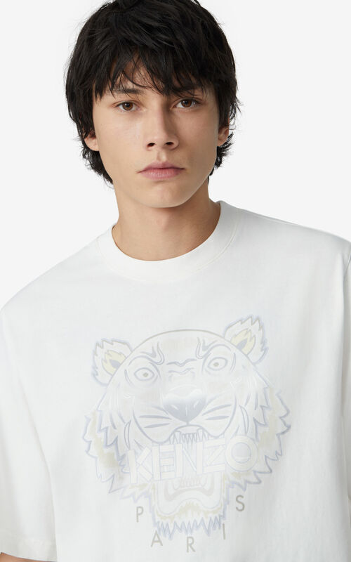 WHITE Gradient Tiger T-shirt for men KENZO