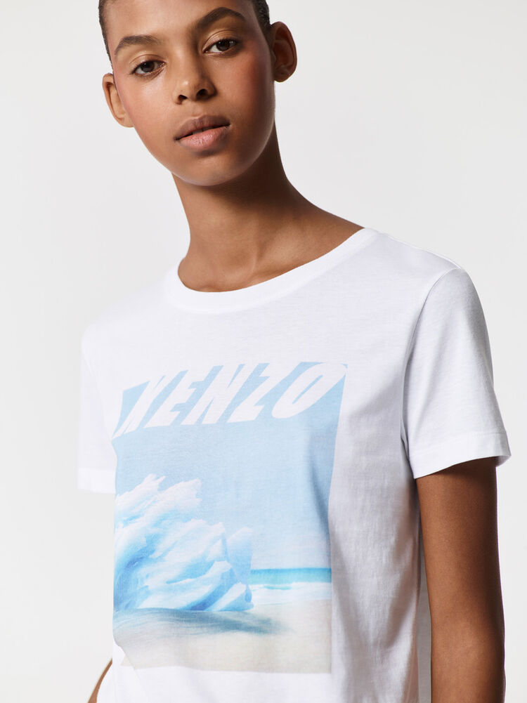 WHITE Tropical Ice' T-shirt for women KENZO