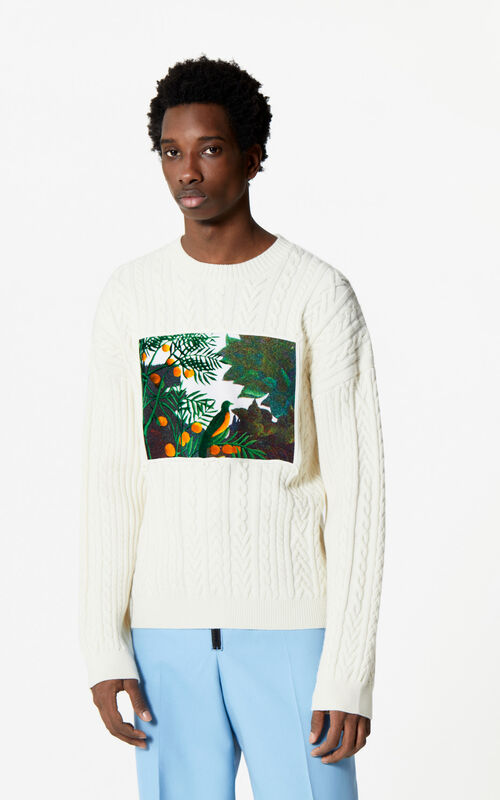 ECRU Printed wool jumper for men KENZO