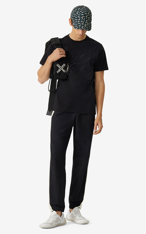 BLACK KENZO Sport 'Big X' T-shirt for men