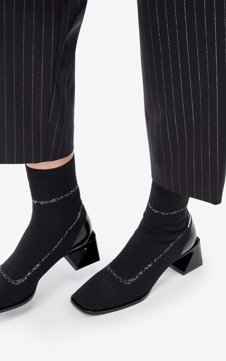 BLACK 'K-Square' ankle boots for unisex KENZO