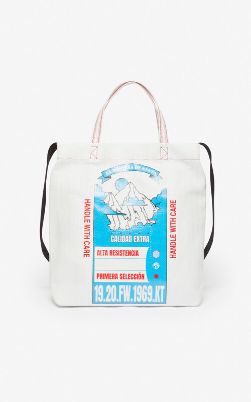 WHITE 'Rice Bags' tote bag for unisex KENZO
