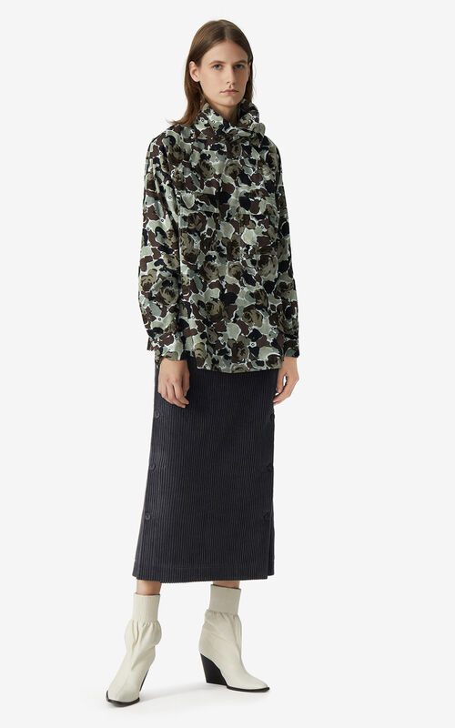 OLIVE 'Rose Camo' shirt for women KENZO