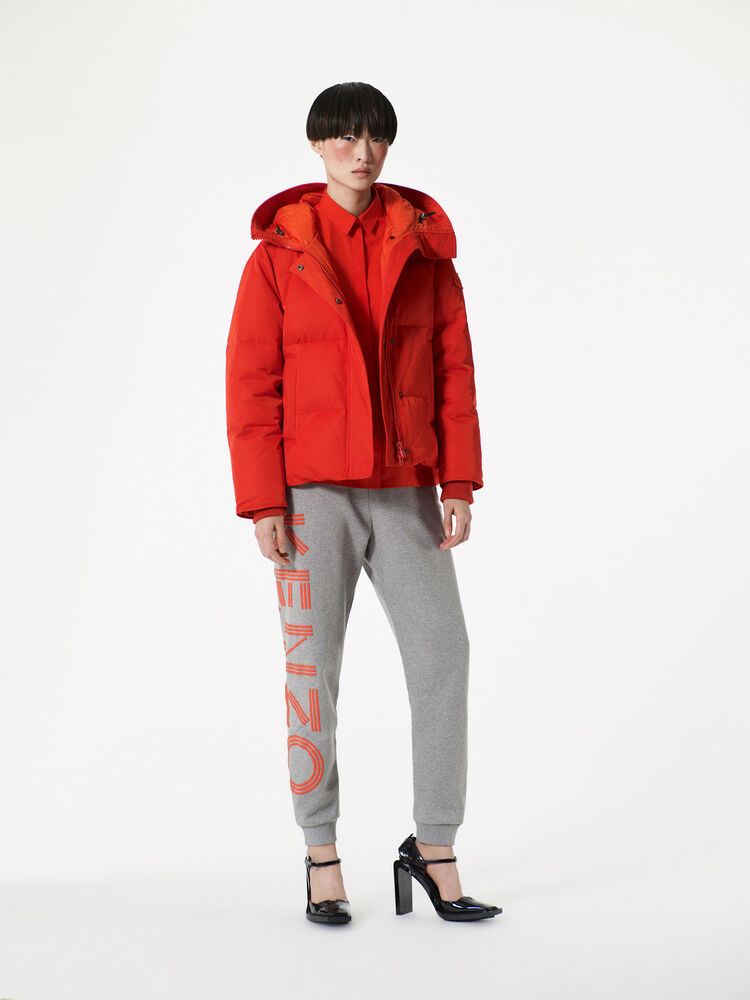 MEDIUM ORANGE Quilted Puffa jacket for women KENZO