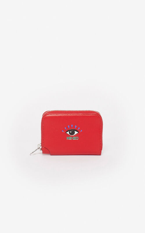 CHERRY Eye coin purse with zip for women KENZO