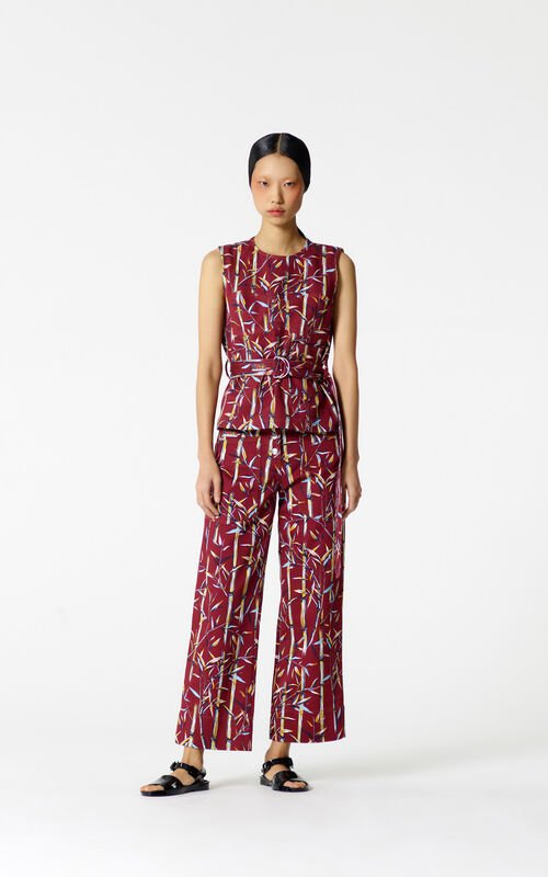 BORDEAUX 'Bamboo Leaf' trousers for women KENZO