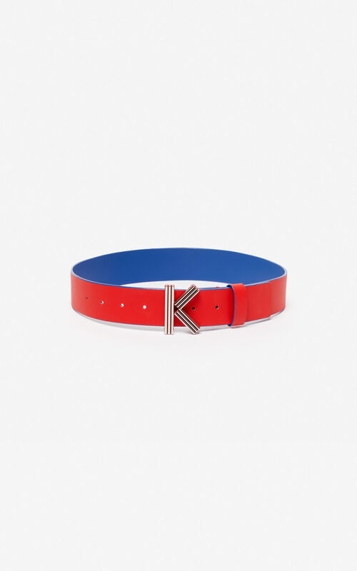 MEDIUM RED Wide two-tone K-Bag belt KENZO