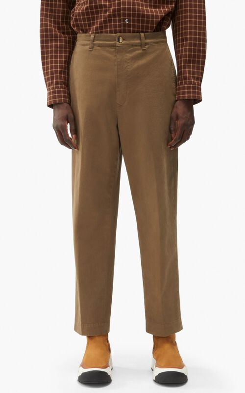 TAUPE Cropped trousers for men KENZO