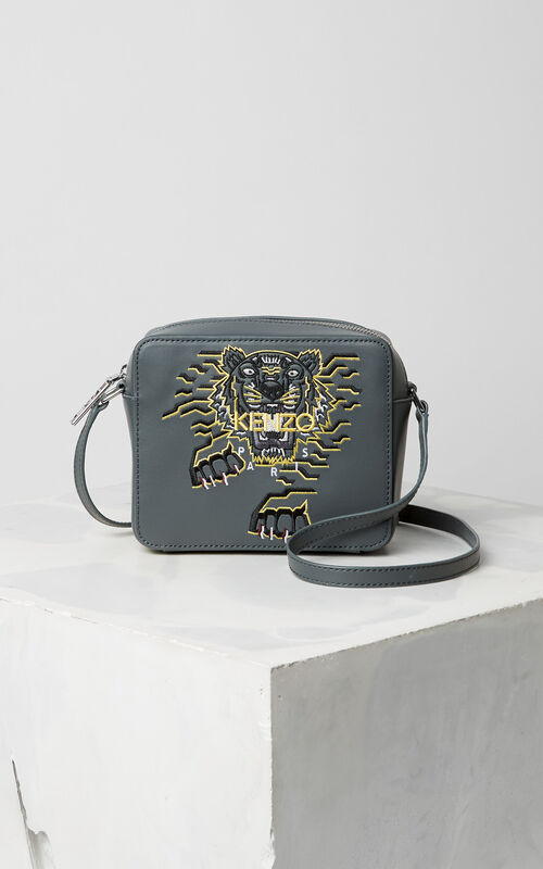 ANTHRACITE Geo Tiger' Camera Bag for women KENZO
