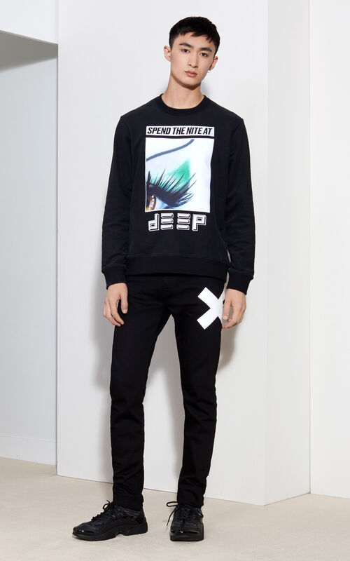 Eye x Flyer Sweatshirt, BLACK, KENZO