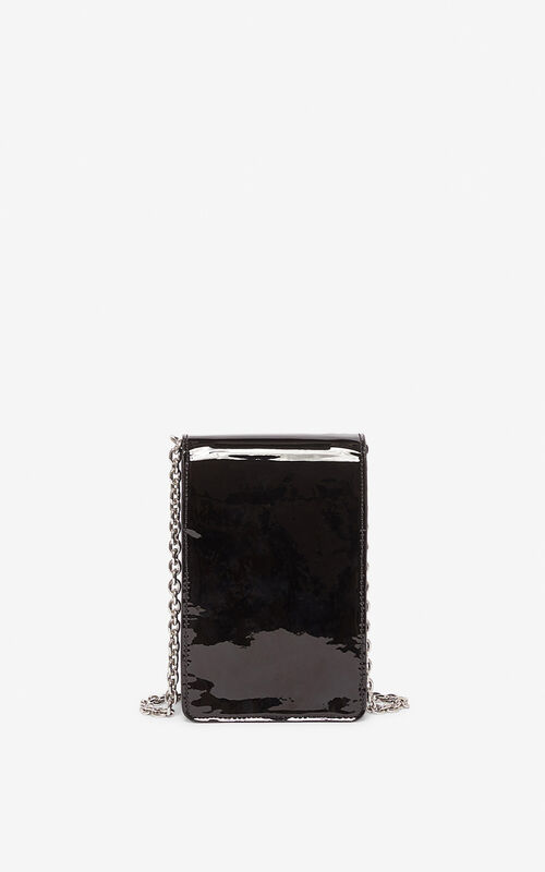 BLACK Tiger phone case with chain for men KENZO