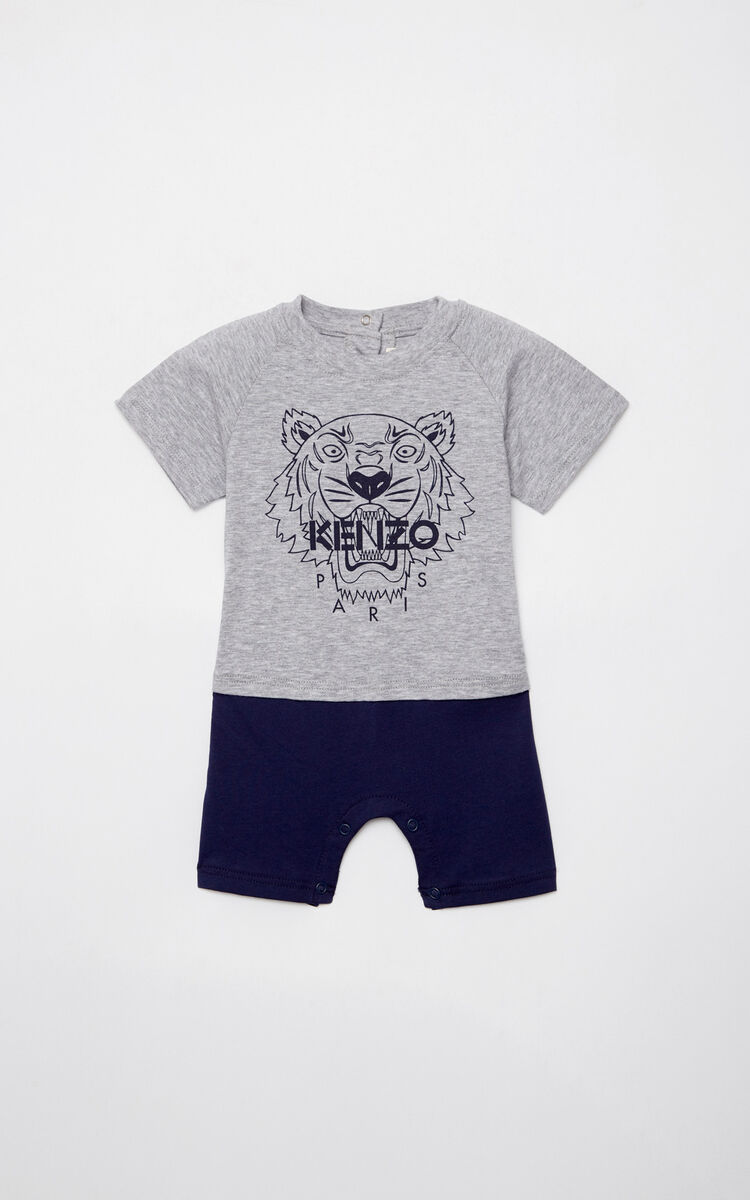 MIDDLE GREY Tiger playsuit for men KENZO