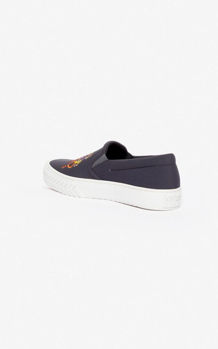 ANTHRACITE K-Skate Tiger slip-on shoes for unisex KENZO