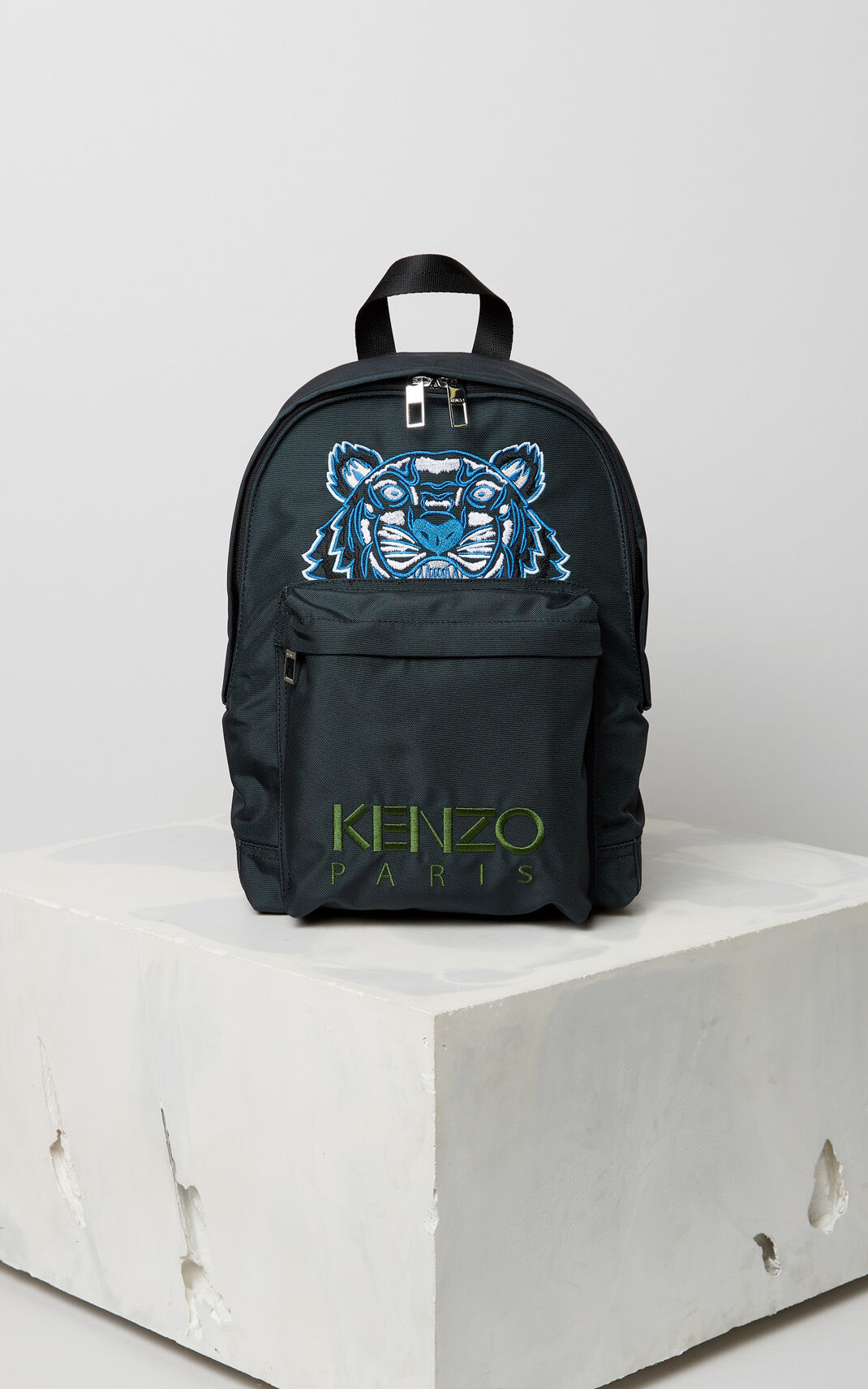 dark grey medium tiger canvas backpack for women kenzo