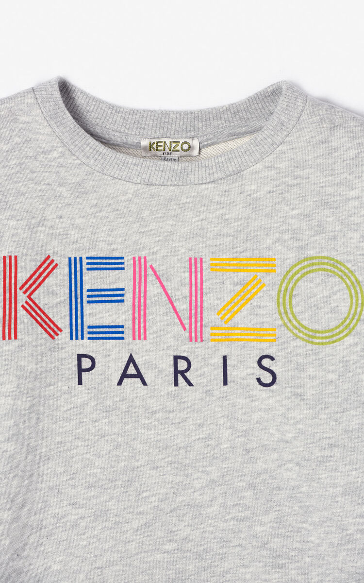 MIDDLE GREY KENZO logo sweatshirt for men