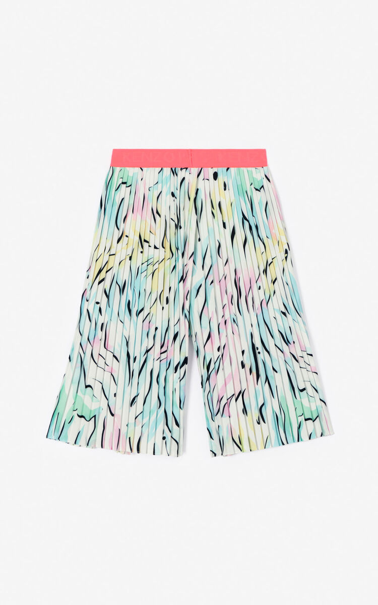 WHITE 'Cali party' Culotte pants for women KENZO