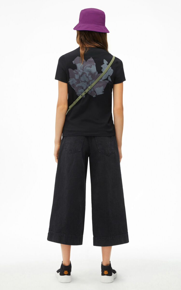 BLACK 'Archive Floral' T-shirt for women KENZO