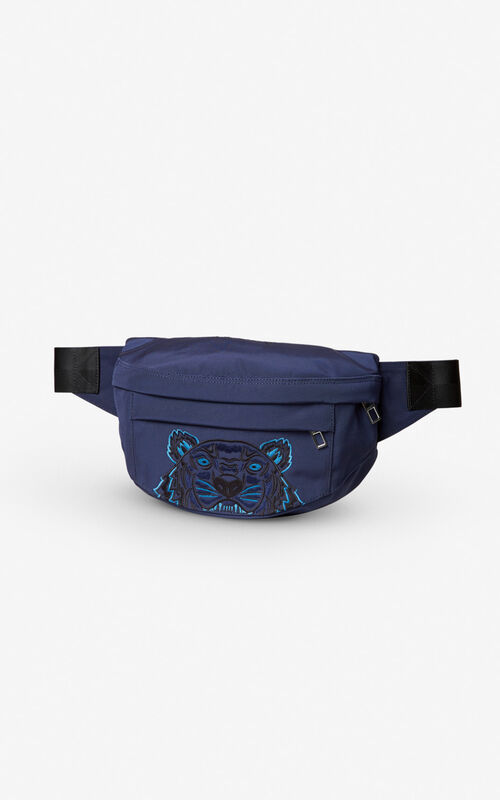 NAVY BLUE Tiger bumbag for unisex KENZO