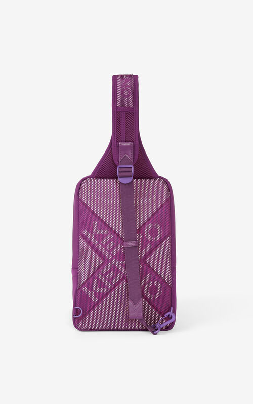 PURPLE KENZO Sport backpack with strap for unisex