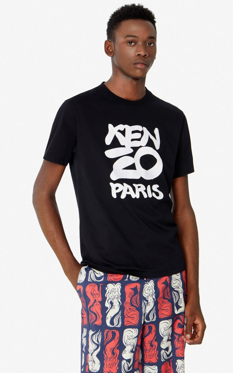 BLACK KENZO Paris t-shirt  for men