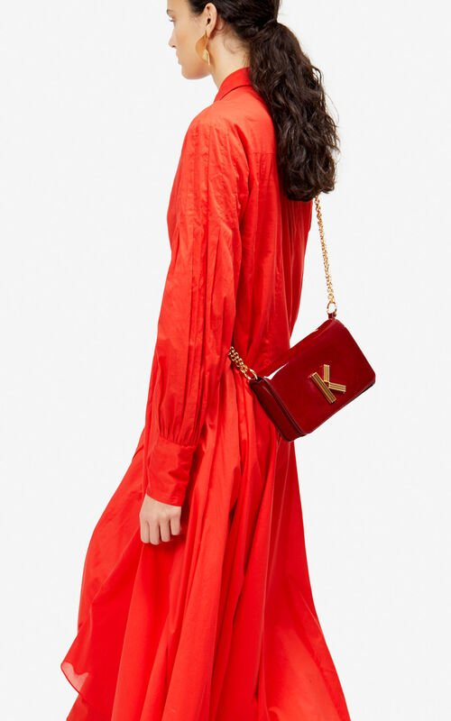 VERMILLION K-Bag Chainy patent bag 'Exclusive Capsule' for women KENZO