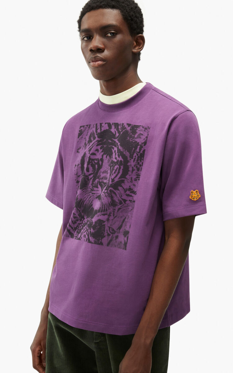 BLACKCURRANT 'Wildtigers' T-shirt for women KENZO