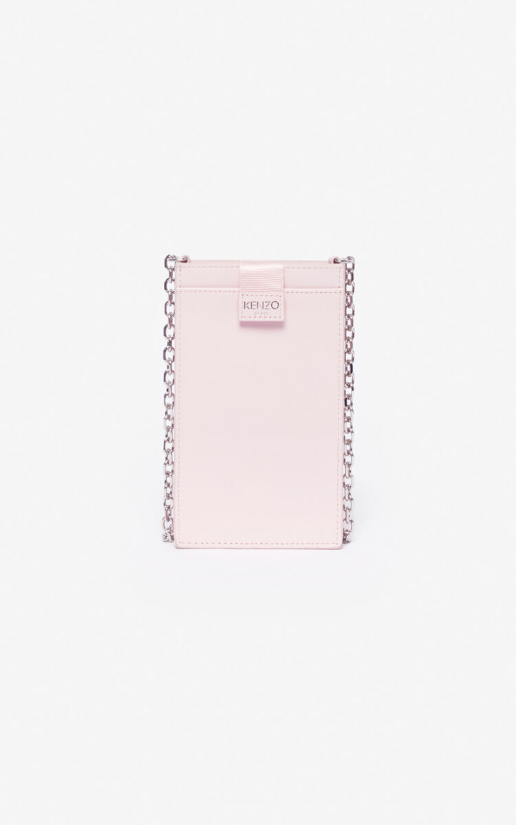 PASTEL PINK Phone Holder on Chain Eye for unisex KENZO