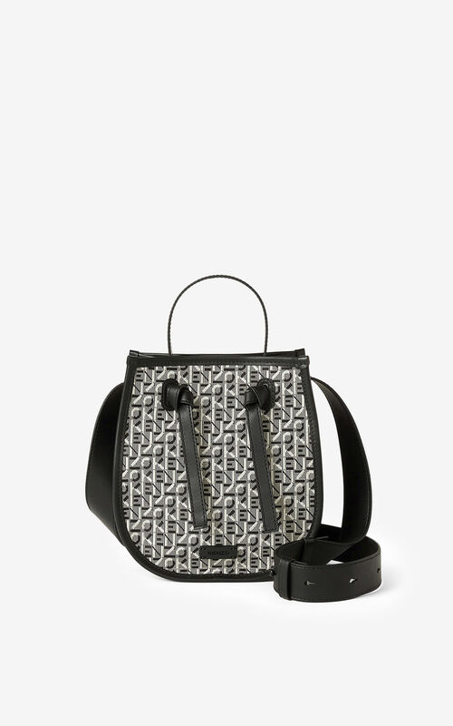 MISTY GREY Courier jacquard bucket bag     for unisex KENZO