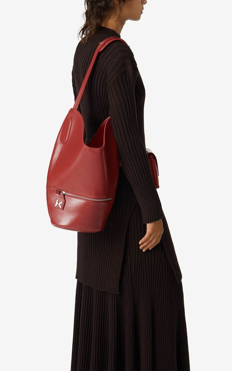 POPPY KENZO Onda leather bucket bag for women