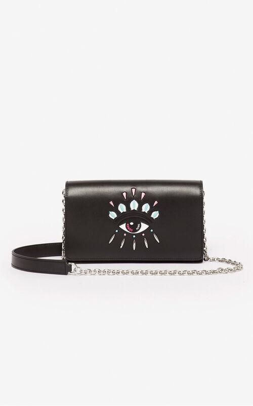 BLACK Kontact wallet on a chain for women KENZO
