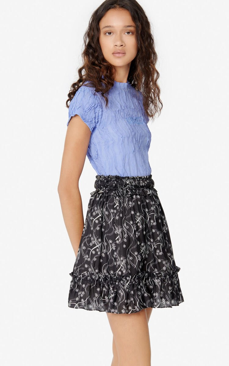 BLACK 'Urchin Waves' skirt for women KENZO