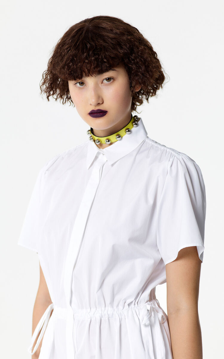 WHITE Shirt dress for women KENZO