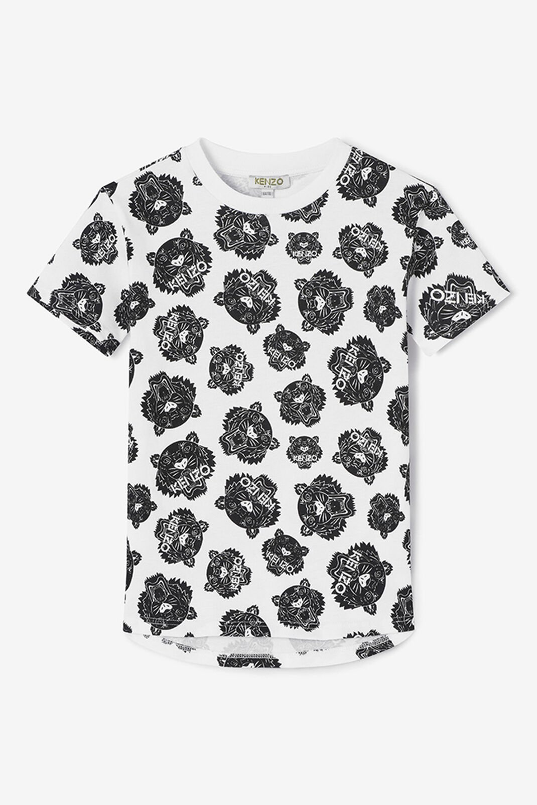 WHITE Allover Tiger T-shirt for men KENZO