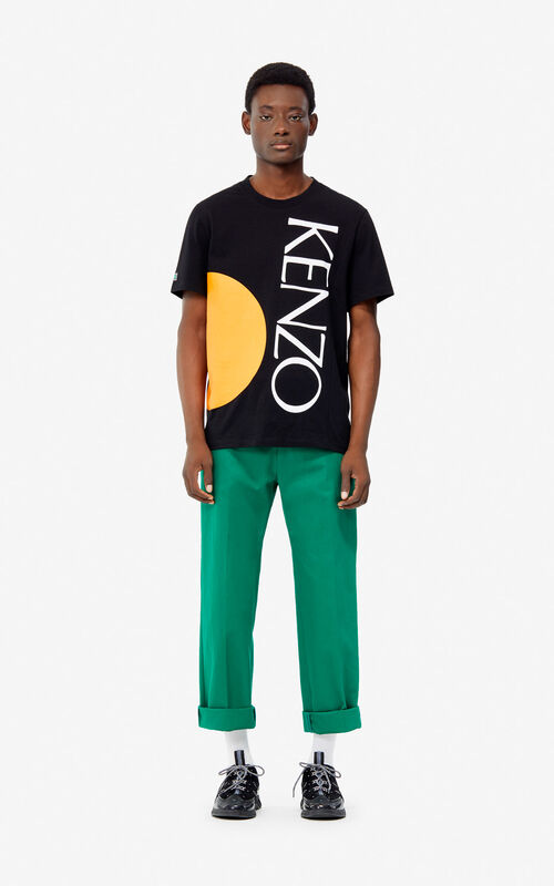 BLACK 'Square Logo' T-shirt for men KENZO