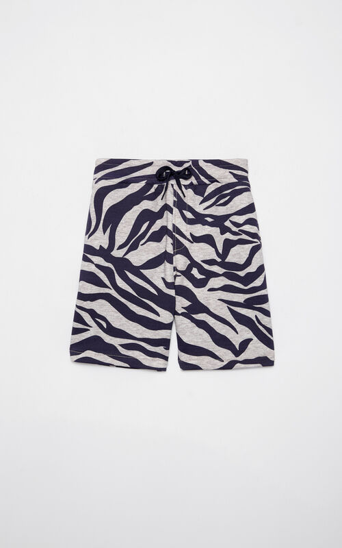 MIDDLE GREY 'Tiger Stripes' Bermuda shorts for women KENZO