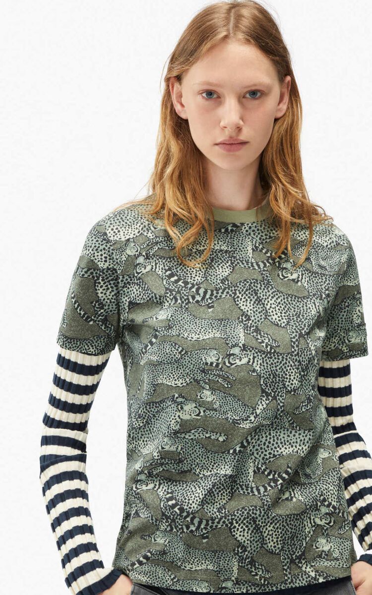 LIME TEA 'Archive KENZO' loose-fitting T-shirt for women