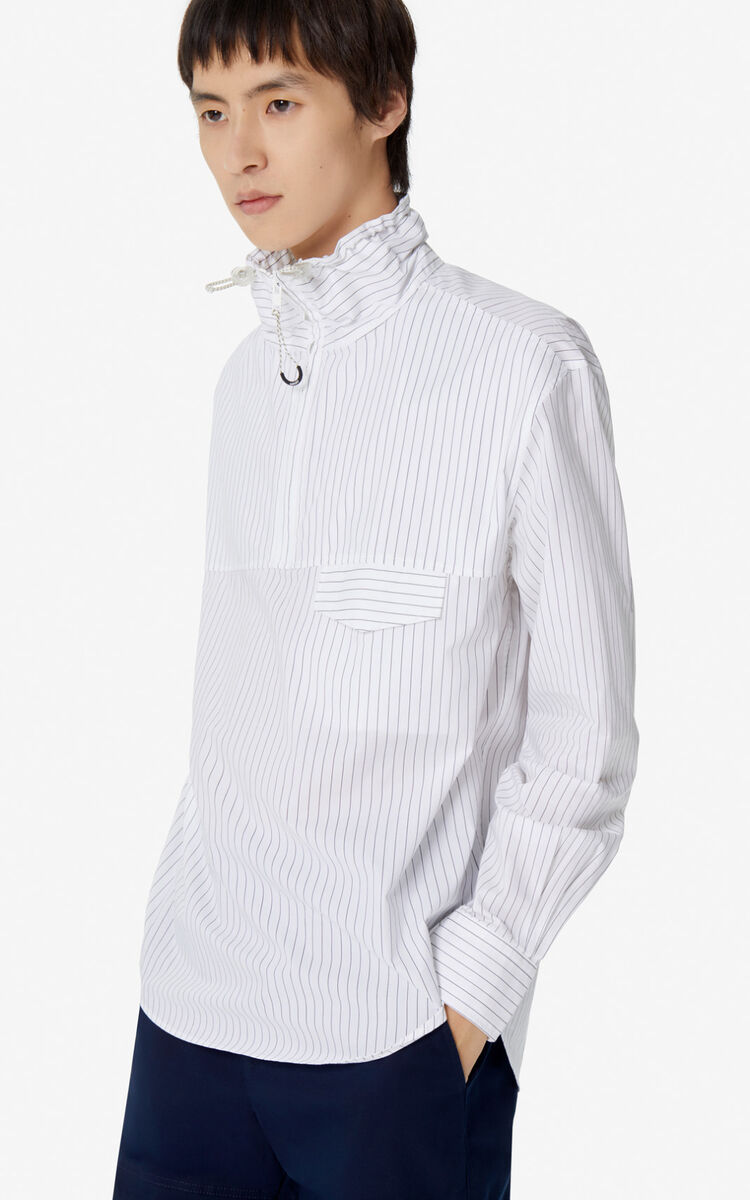 WHITE 'KENZO Mountain' striped shirt for men