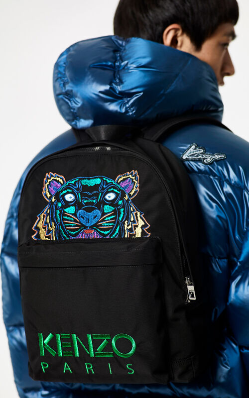 BLACK 'Holiday Capsule Collection' Tiger Backpack for men KENZO