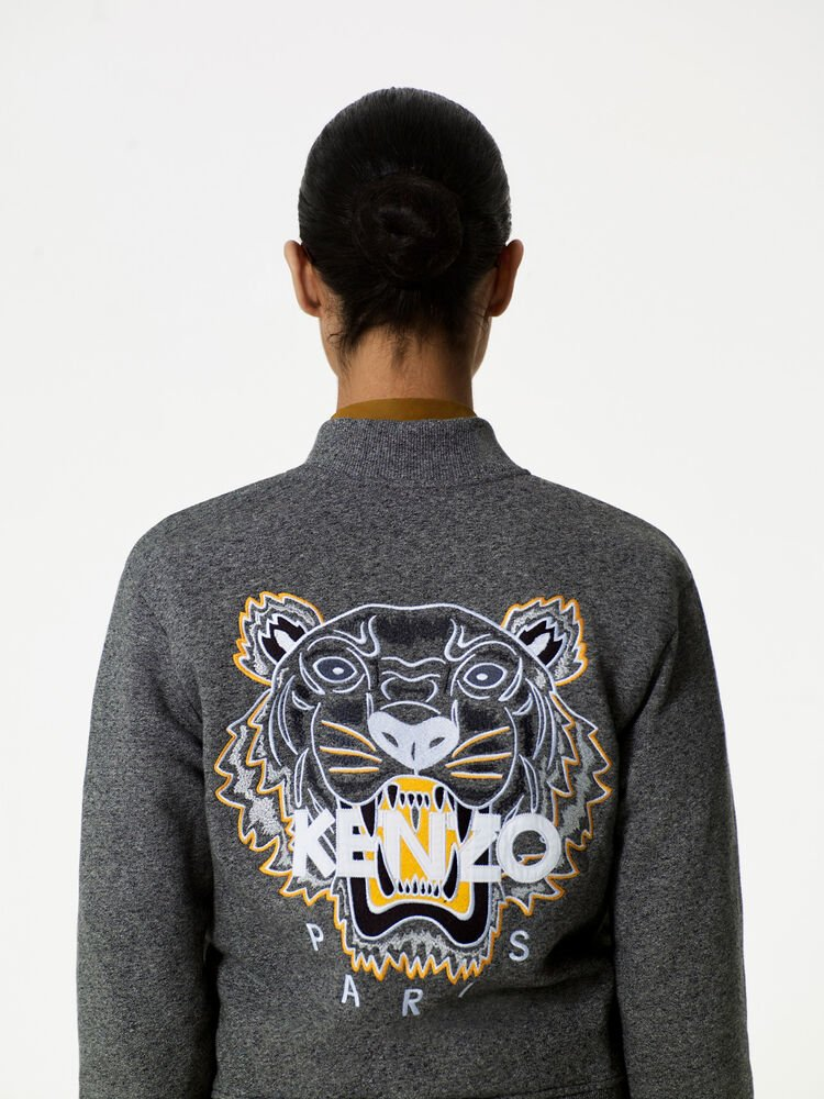 ANTHRACITE Tiger jersey bomber for women KENZO
