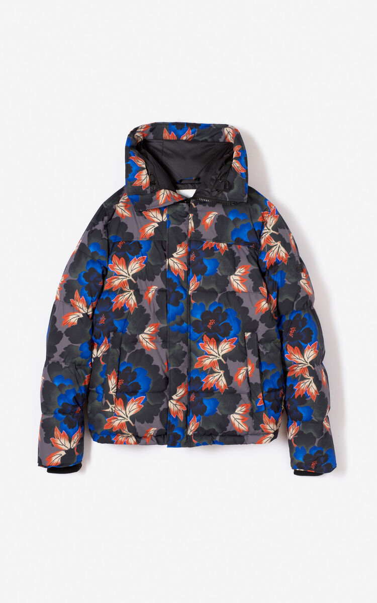 ANTHRACITE 'Indonesian Flower' Puffa jacket for men KENZO